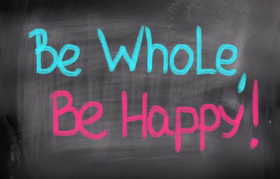 Be Whole Be Happy Concept